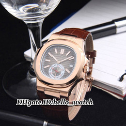 Super Clone Brand Watch 5980 5980R 5712 5712R Automatic Gents Watch 40mm High Quality Rose Gold Bezel Leather Strap Mens Best Sports Watches