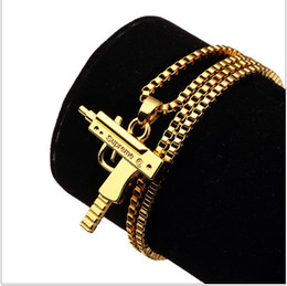Roches de mode en Ligne-Vente Charm Colliers Hommes Hip Hop Bijoux Gangsta pendentif design Punk Rock Fashion Filling Pieces Chains 60cm