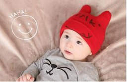 Wholesale children beanie for kids cutie baby hat months baby Knitting embroidery beanie can buy large amount good quality