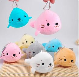 Wholesale 10cm Cute Sea Lions Short Plush Pendant Aquarium Plush Toy Stuffed Best Gift For Kids