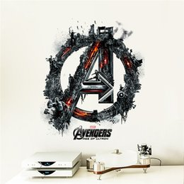 Wholesale The avengers alliance Ultron animated cartoon kindergarten children room bedroom The thor decorative wall stickers in the background
