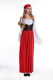 Halloween red long Germany beer festival clothes fairy tale little red riding hood maid maid costume