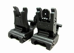 Iron Folding #71L-F R Set Front & Rear Flip-up Back-up Tactical Sites Sights