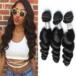 "Large Stock Peruvian Loose Wave Hair Extensions 10""-30"" 3Pcs Lot Natural Color Loose Wave Hair Weave Unprocessed Raw Loose Wave Hair"