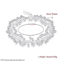 2017 lien pour perles Déclaration Beads Charms Bracelet 925 bijoux en argent plaqué Link Bracelet amitié bijoux de raisin pour les femmes Girls 8inch Party Street Gifts lien pour perles à vendre
