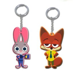 Wholesale New Crazy Animal City Zootopia vinyl mini keychain Princess doll hook ornaments Bags clothes mobile phone accessories