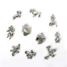 Free shipping New 74pcs Mixed Tibetan Silver Plated Tiger Head Lion Head Pendants Jewelry Making Diy Charm Handmade Crafts jewelry making D