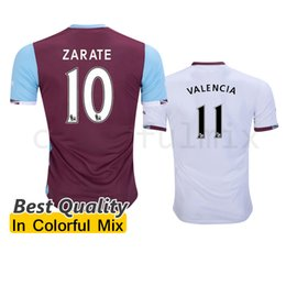 Wholesale 1617 West Ham Soccer Jerseys United Home Red White Best Quality LANZINI PAYET CARROLL SONG ZARATE NOBLE KOUYATE West Ham Jerseys uniforms