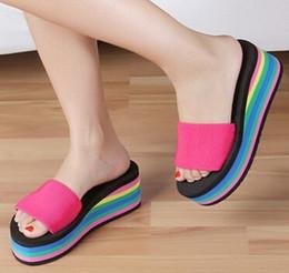 2016 Women Summer Slippers Beach Flip Flops Lady Slippers New Fashion Beach Casual Home House Slipper Platform Flat Leisure Sandals