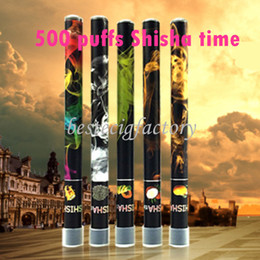 E ShiSha Time Disposable Cigarette E HOOKAH Pen 500 Puffs Various Fruit Flavors Colorful SHISHA TIME Pens Electronic Cigarette free shipping