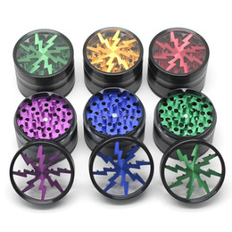 Wholesale Herbal Grinders mm Aluminium Alloy Grinders With Clear Top Window Lighting Tooth Pieces Grinder VS Sharpstone Grinders
