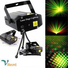 Wholesale Color Change Led Mini Lights - mini 150mW LED Stage Light AC100-240V red green DJ Disco Club Party PUB KTV sing laser