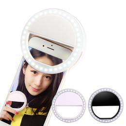 2017 anillo de luz led de la cámara Cámara selfie aro de luz LED flash de relleno Fotografía Luz Lámpara flash tiro de la noche de luz para el iPhone Samsung brillo ajustable OTH248 barato anillo de luz led de la cámara