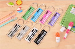 Wholesale Student Ruler Calculator Plastic Mini Multifunction Calculator cm Creative Stationery Portable Solar Calculator Straight Ruler OOA265