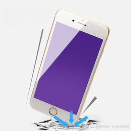 Acheter en ligne Écrans pourpres-Fibre de carbone Anti anti-explosion anti violet clair Plein écran films de protecteur de 0.18mm pour Iphone 6 6s plus avec le paquet de détail DHL libre