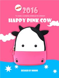 Wholesale Kids Backpack Children Cute Cartoon Bag For Little Boys Girls Character Christmas Birthday Gift Pink Dairy Cow School Lunch Bag Rucksack