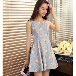 Summer Dress Floral Print Vintage Women Plus Small fresh Size new women women's clothing women casual fashion vintage dress