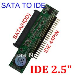 Wholesale T Sata to IDE Sata Female to inch IDE Male pin port Gbs Support ATA HDD CD DVD Serial Adapter Converter