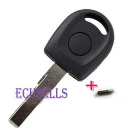 Wholesale FOR VW Polo Golf SEAT Ibiza Leon SKODA key case with light and new chip ID48 WITH FOR VW LOGO