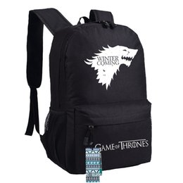 Wholesale A Game Of Thrones Backpack House Stark of Winterfell Printed Oxford Sport Laptop Backpack School Bags Winter IS Coming Styles