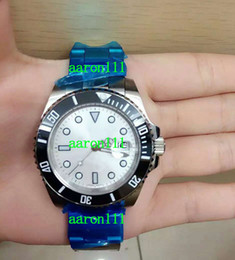 Cerámica blanca reloj de pulsera en venta-Navidad regalo de la manera Mens a estrenar de lujo mecánico automático de los relojes de cerámica Bisel Negro esfera blanca moderna visten los relojes del deporte