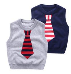 Wholesale Fashions Kids Cartoon Pullover Sweater Vest Autumn Childrens Jacquard Sweaters Babies Crochet Sweaters Boy Sweater B4256