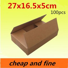 27x16.5x5cm 100pcs High quality wholesale kraft paper boxes Thicken three floor corrugated kraft packaging gift,cosmetics caisse