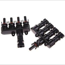 Acheter en ligne Connecteur mc4 panneau solaire-Nouveau 20 pièces Panneau solaire 5 à 1 MC4 T Branchements Connecteurs Coupleur de câble Combinateur TF0168