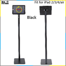 Wholesale 360 Tablet pc display floor stand for iPad air holder stand metal case frame security mount lockable holder for iPad floor