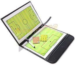 hot Outdoor Soccer basketball Coach Match Training Tactical Plate Coaching Board Kits Magnetic Chess Pieces Foldable Coach Board PU Cover