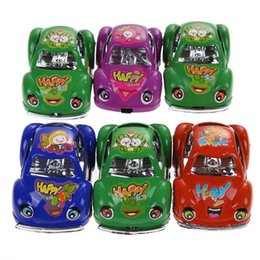 Wholesale 6Pcs Kids Funny Toy Cars Mini Auto Cute Pull Back Model Racing Car Vehicles Best Gift for Children Colors K5BO
