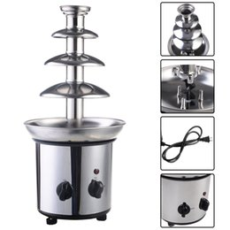Wholesale 4 Tiers Commercial Stainless Steel Hot New Luxury Chocolate Fondue Fountain New