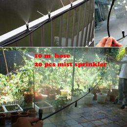 10pcs 4 7mm micro tubing 20 pcs mist sprinkler Outdoor Garden Misting Cooling System Mist Nozzle Sprinkler water system
