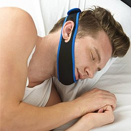 Wholesale 500pcs Anti Snoring Chin Strap Neoprene Stop Snoring Chin Support Belt Anti Apnea Jaw Solution Sleep Device