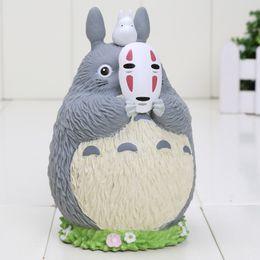 Wholesale 10pcs Japan cartoon anime my neighbor totoro figure totoro with mask no face man pvc Piggy Bank Saving Bank cm approx