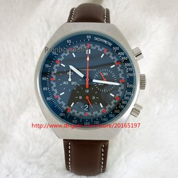 Wholesale Fashion vk Quartz chronograph movement mens watches grey dial wristwatch green luminous male clock as gift OV54