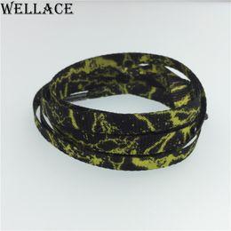 2017 plaque d'écran Wellace cordons de soie sérigraphie Lacets d'impression plate pour chaussures habillées lacets de rechange personnalisés 63 '' / 160cm budget plaque d'écran