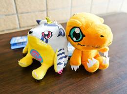 """2 Style Agumon and Gabumon 4"""" 10cm Digimon Adventure Plush Doll Stuffed Toy Key chain plush Toys sko"""