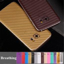 Wholesale 1set D Color Luxury Carbon Fiber Case Sticker Full Body Front Skin HD Screen Protector Film Back Cover For Samsung Galaxy S6 S7 Edge Plus