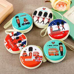 Wholesale British soldiers purse Korean fashion creative fun cartoon cute bearded coin purses headset package wallets women men cm