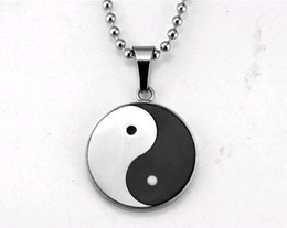 Wholesale STN450 diameter cm hot Taichi necklace of Yin and Yang fish pendant Taoism national wind fate preventable fashion titanium jewelry gift