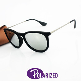 Wholesale 2016 Top Brand Erika Polarized Sunglasses Men Women Designer Shiny Matte Tortoise Black Frame Grey Gradient Flash Lens Case Box mm