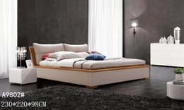 Wholesale GENUINE LEATHER BED ELEGANT STYLE PINK MODERN SIMPLE DOUBLE PERSON FASION GOOD QUALITY cm AFA9802