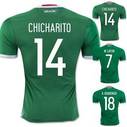 Wholesale Best Mexico Jersey Green CHICHARITO G DOS SANTOS Soccer Jerseys Mexico Away Kits O PERALTA Thailand Fans Version