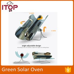 Wholesale Newest Arrival Fast Delivering Solar Oven Green Solar BBQ Grill Portable Convenient Simple Small Camping Oven Outdoor Activity