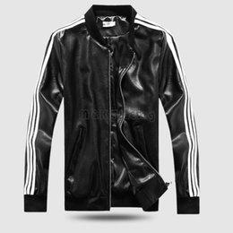 Wholesale 2016 Baseball Uniform Jacket PU Machine Wagon Jacket Tide Male Lovers Stand Collar Faux Leather Men Clothing