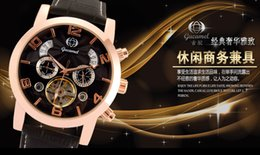 Wholesale hot style Gucamel men tourbillon watches of high grade Business automatic mechanical watches with box packing