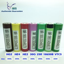 Wholesale Authentic Guarantee Rechargeable Batteries HG2 HE4 HE2 Q R VTC5 VTC4 HD2C All High Drain Lithium Batteries Available Free