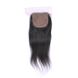 Grade 7A Brazilian Indian Malaysian Peruvian 4*4 Straight Silk Base 100% Unprocessed Human Hair Full And Thick Soft Free Shipping Fee DHL