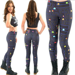 Wholesale Super Slimming Leggings - Plus size Galaxy Digital Printed Leggings For Women Fashion Slim Cartoon Games Super Mario Black Milk Workout Elastic Pants 4XL